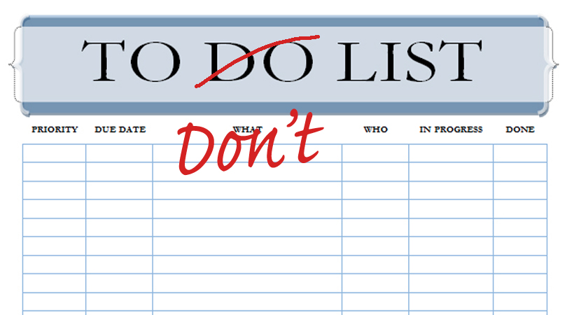 to-dont-list